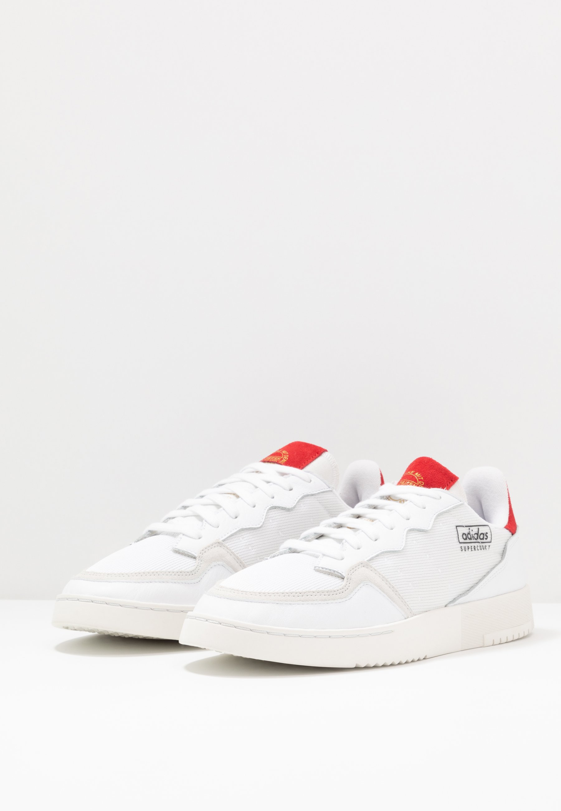 adidas Originals SUPERCOURT - Sneaker low - footwear white/scarlet | Damen Schuhe 2020