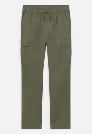 SLIM - Pantaloni cargo - army olive