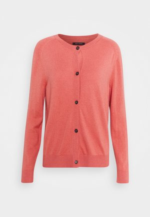 CARDIGAN LONGSLEEVE BUTTON CLOSURE SADDLE SHOULDER - Strikjakke /Cardigans - hazy peach