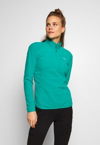 The North Face - WOMEN'S GLACIER 1/4 ZIP - Fleece jumper - jaiden green - 0