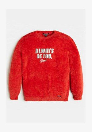 KUNSTFELLOPTIK - Fleece trui - rood multi