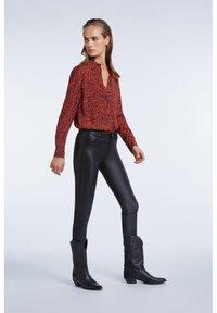 SET - LEDERHOSE DAKOTA - Leather trousers - black - 1