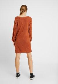 ONLY - ONLJESSIE BOATNECK DRESS - Jumper dress - ginger bread - 3