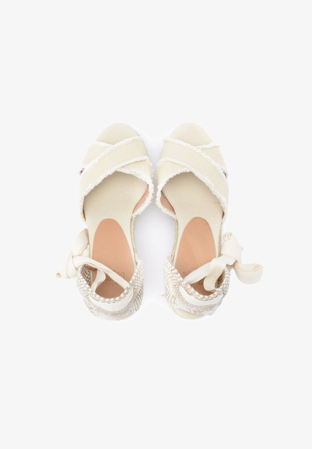 Sandali con plateau - bianco