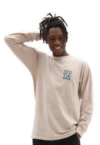 Vans - MN HAVE A TRIP LS - Long sleeved top - oatmeal - 0