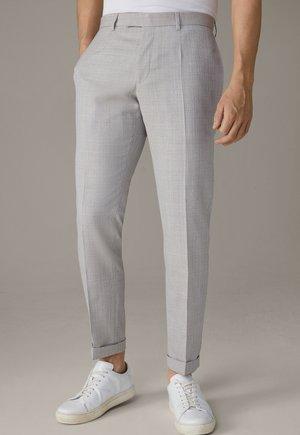 Trousers - medium beige strukturiert