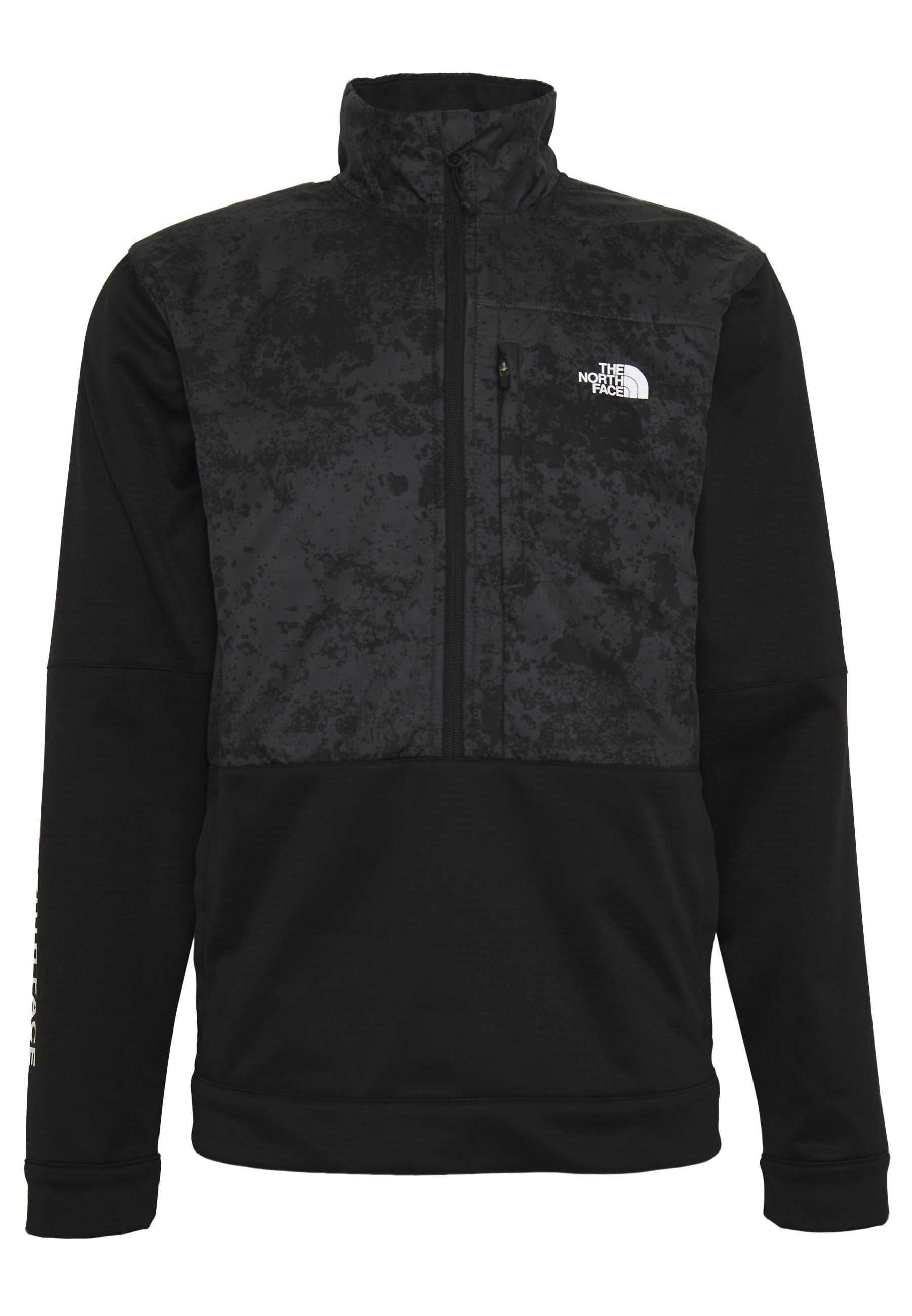The North Face TRAIN LOGO ZIP - Sweatshirt - black/asphalt grey