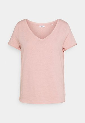 SHORTSLEEVED V NECK - Basic T-shirt - rose smoke