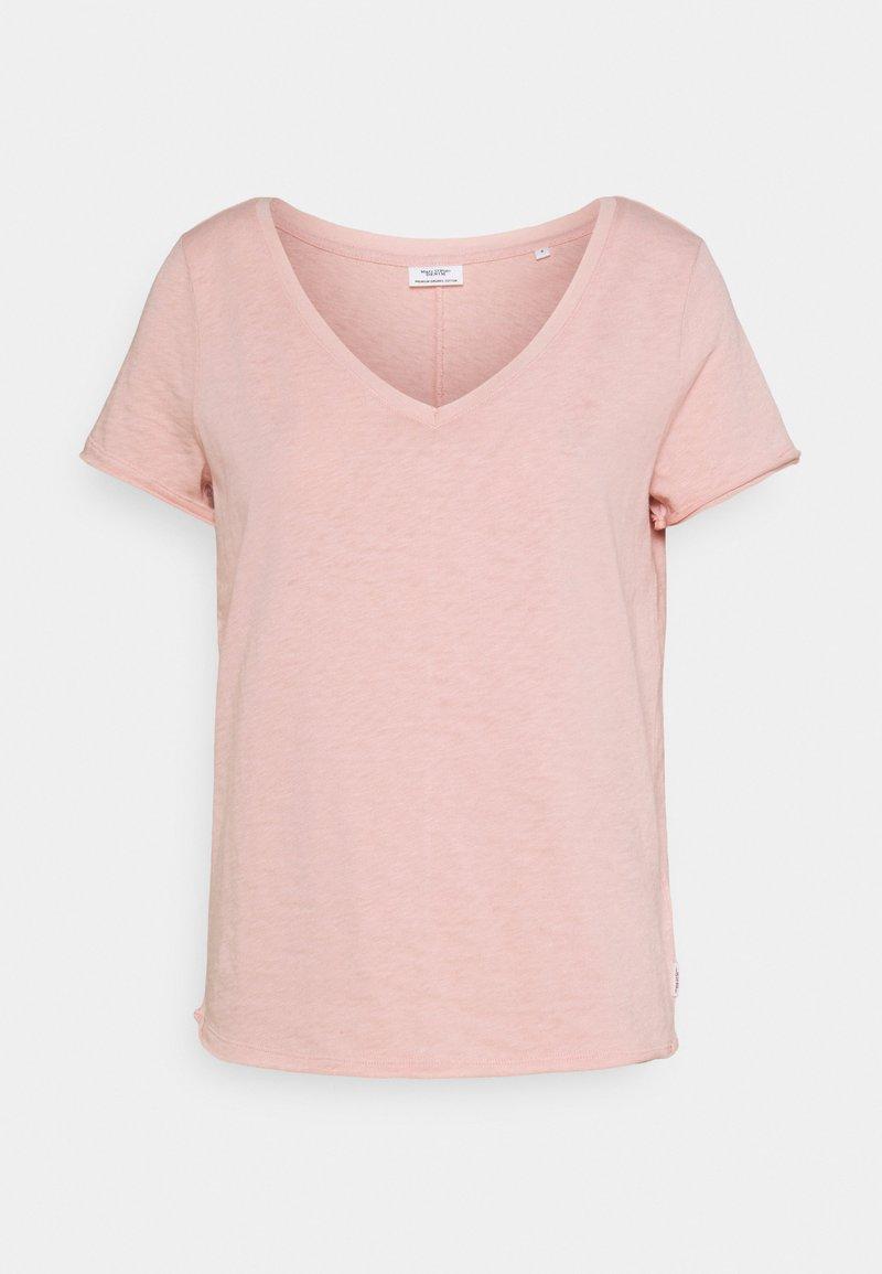 Marc O'Polo DENIM - SHORTSLEEVED V NECK - T-shirt basique - rose smoke