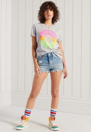CALI SURF  - Print T-shirt - light grey marl