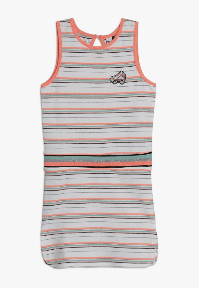 STRIPED DRESS - Jersey dress - white