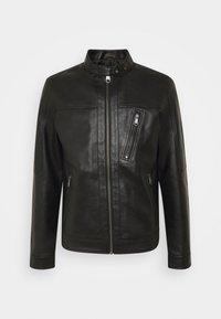 Jack & Jones PREMIUM - JPRBLUMAX JACKET - Faux leather jacket - black - 4