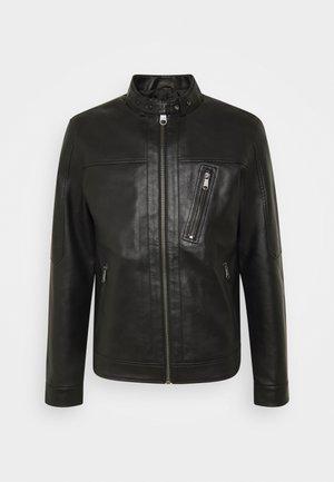 JPRBLUMAX JACKET - Faux leather jacket - black