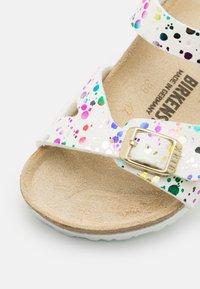 Birkenstock - RIO KIDS CONFETTI POP - Sandals - white - 5