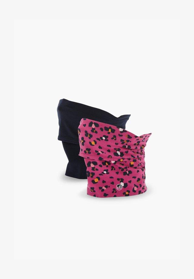 2 PACK - Snood - pink leo/dark blue uni