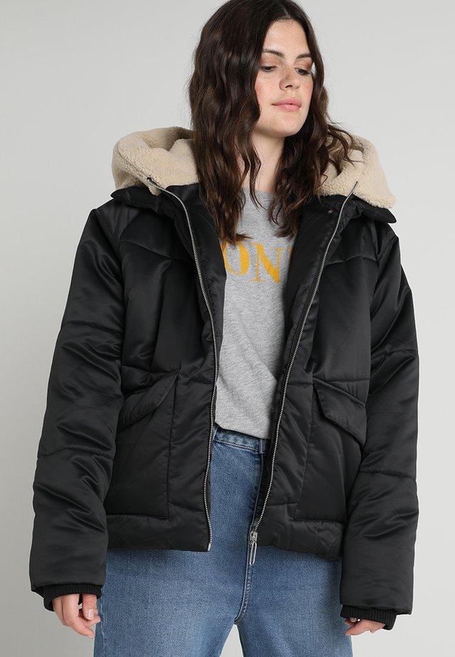 LADIES HOODED - Winter jacket - black/darksand