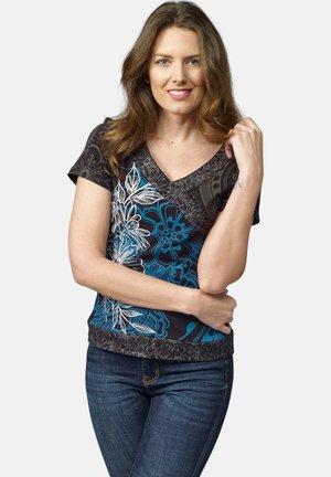 Camiseta estampada - cobalto