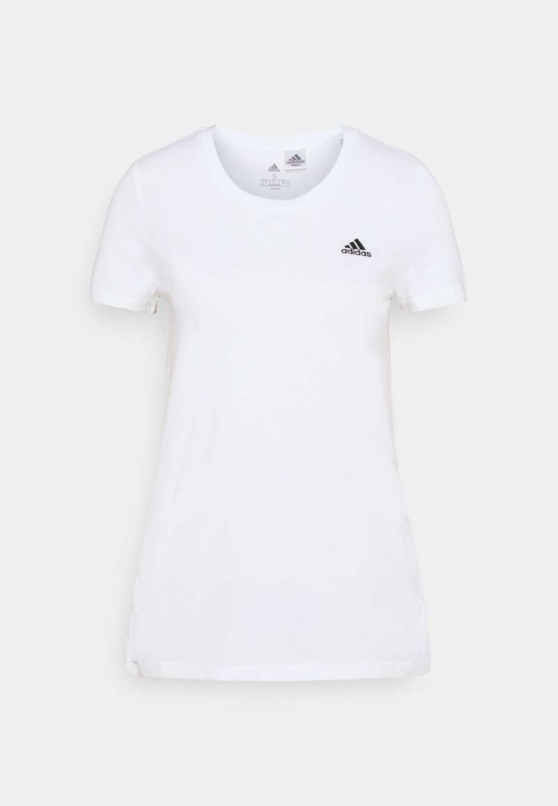 adidas Performance - T-shirt basic - white/black