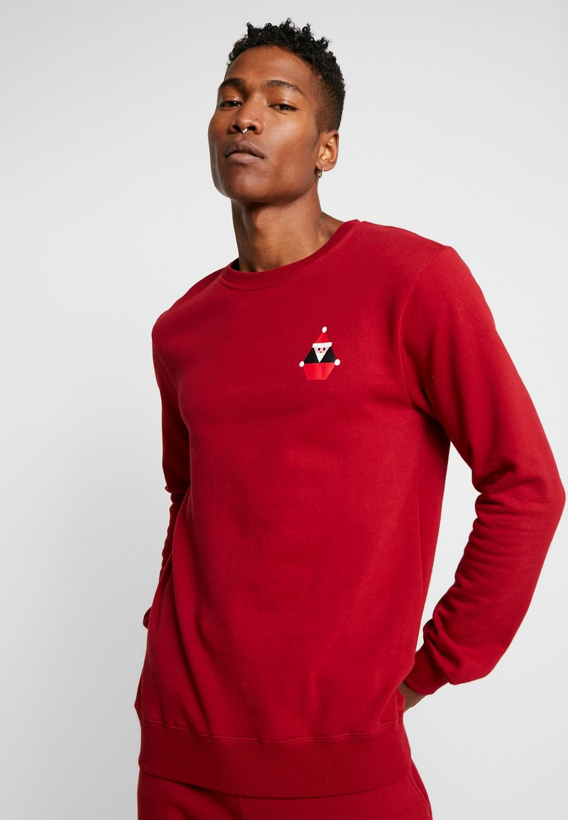 Volcom - SANTASTONE CREW - Sweatshirt - deep red