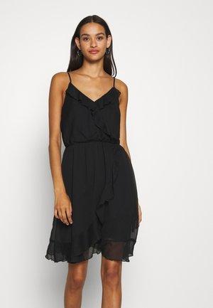 VMWONDA FRILL SINGLET SHORT DRESS  - Day dress - black