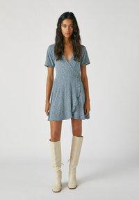 PULL&BEAR - Day dress - stone blue denim - 1