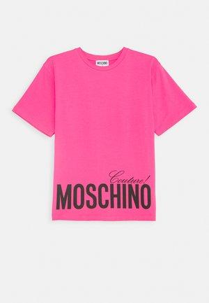 MAXI OVERSIZE - Print T-shirt - fuxia