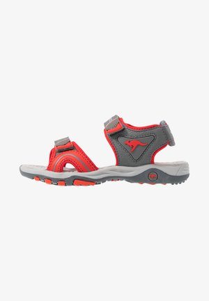 K-TRACK - Outdoorsandalen - steel grey/red