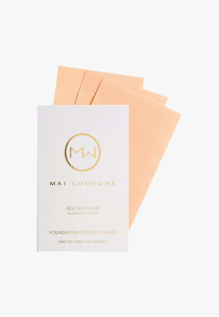Mai Couture - FOUNDATION POWDERED PAPER 50 SHEETS - Fond de teint - golden glow