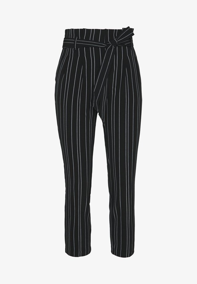 STRIPE MILLER WASIT  - Trousers - black
