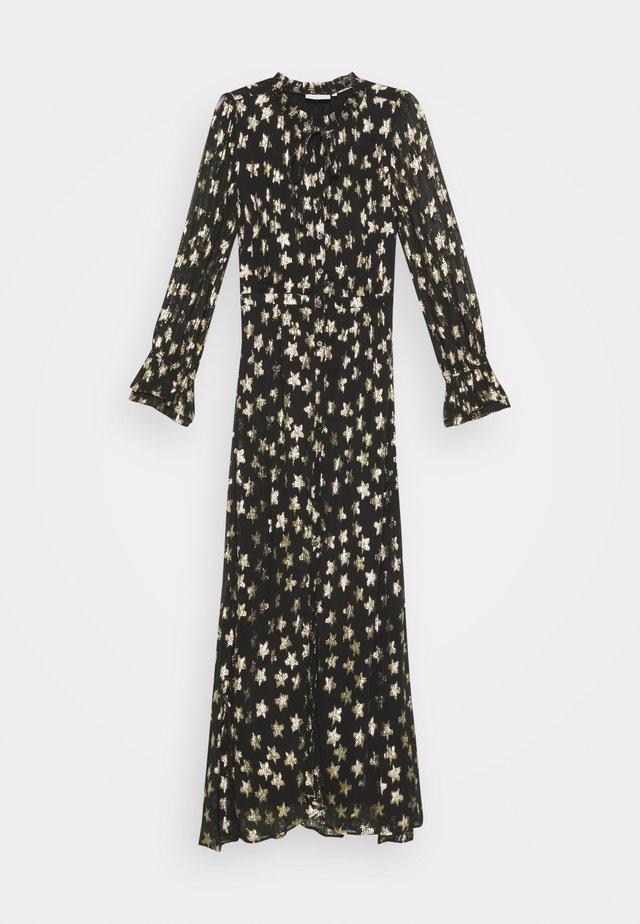 MAXIME DRESS - Maxi šaty - black/gold