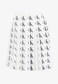Calvin Klein Jeans - PLEATED SKIRT - A-line skirt - white/black - 5