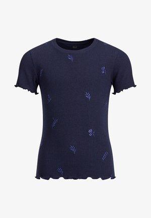 MET EMBROIDERY - Print T-shirt - dark blue