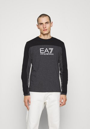 Long sleeved top - anthracite/black