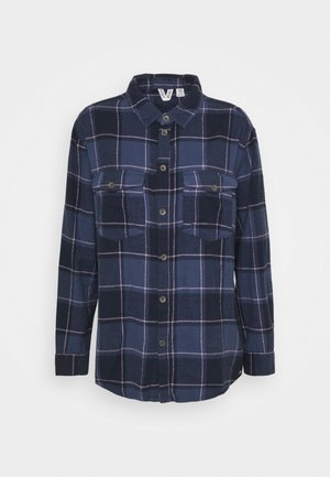 TURN IT UP CHECK - Button-down blouse - mood indigo party
