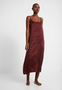 ASCENO - LONG SLIP DRESS - Nightie - rust - 1