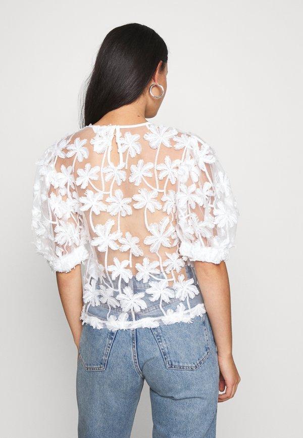 Object OBJSABRINA - Bluzka - gardenia/biały PGJF