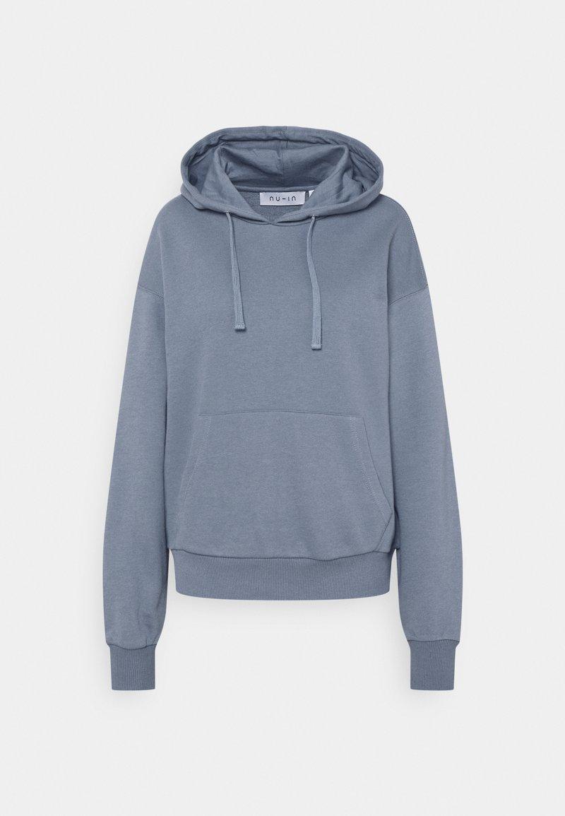 NU-IN - BASIC FRONT POCKET HOODIE - Sweatshirt - blue