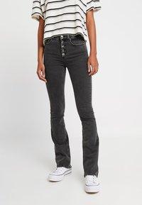 ONLY - ONLBLUSH SWEET FLARED - Flared jeans - black denim - 0