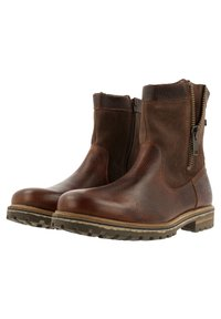 Gaastra - ANKLE BOOT/BOOTIE CASTOR HGH TMB - Cowboy/biker ankle boot - brown - 3