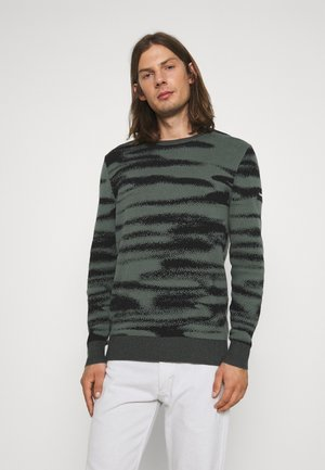 ICONIC ABSTRACT - Pullover - balsam/black