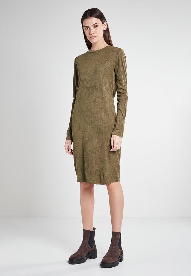 Gebreide jurk - olive