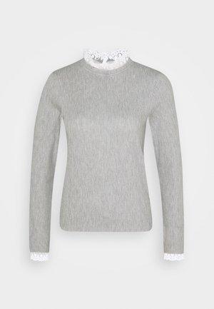 ONLPEARL HIGHNECK - Jumper - light grey melange/white