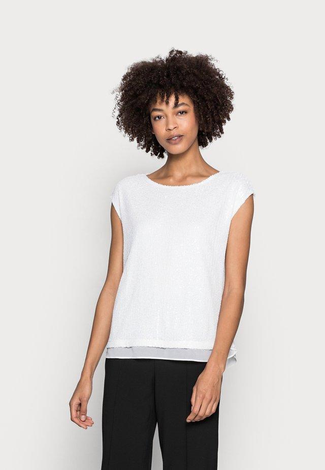 PAILETTEN SHIRT - T-shirt con stampa - off white
