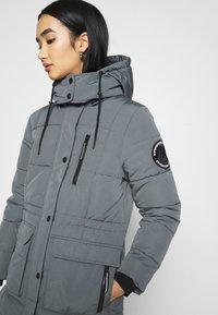 Superdry - LONGLINE EVEREST COAT - Winter coat - slate - 4