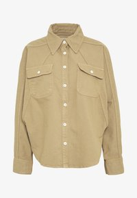 ALINA EXCLUSIVE - Button-down blouse - light sand/tonal stitching