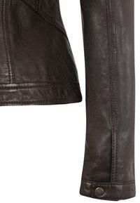 7eleven - URSULA - Leather jacket - chocolate - 4
