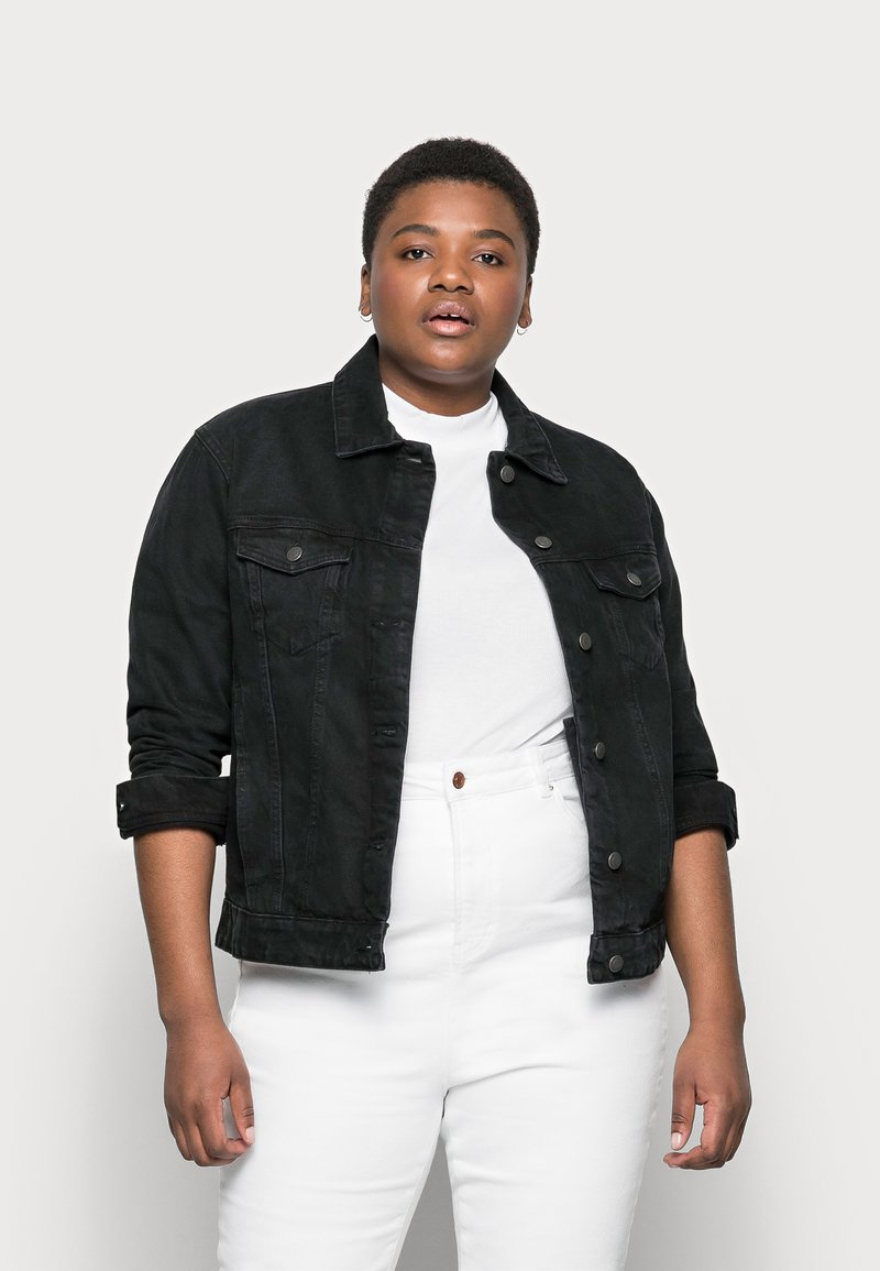 Vero Moda Curve - VMKATRINA JACKET - Denim jacket - black