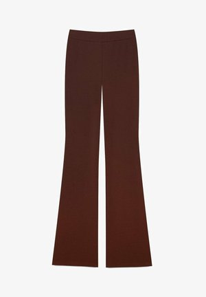 MIT SCHLAG  - Kangashousut - brown