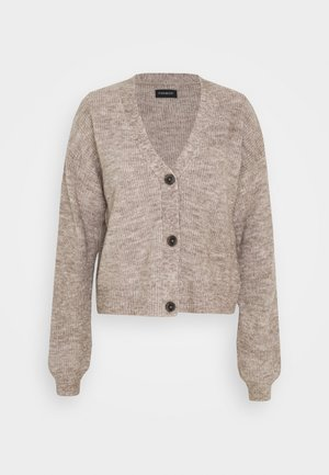 BASIC- SHORT CARDIGAN - Strickjacke - taupe