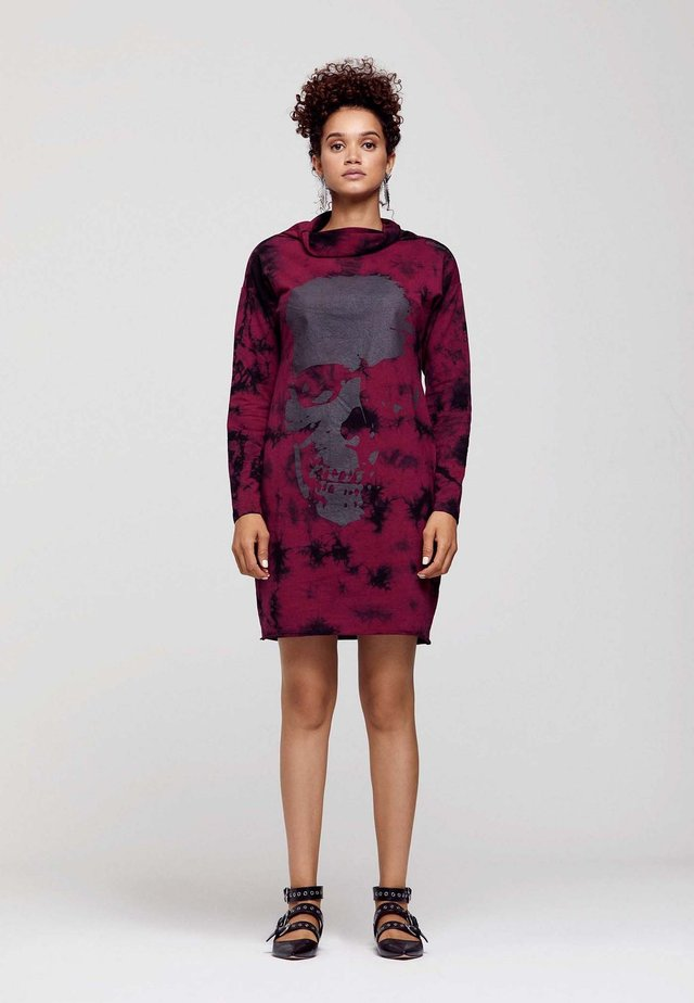 SKULL PRINTED - Day dress - burgundy